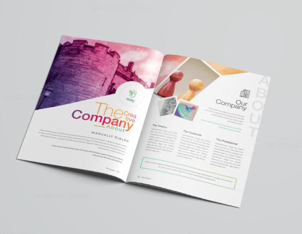 Clean Professional Corporate Brochure Template