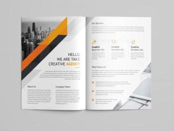 Electra Professional Bi-Fold Brochure Template