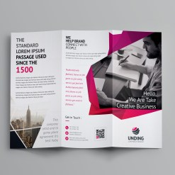 Fancy Business Tri-Fold Brochure Template