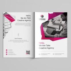 Fancy Professional Bi-Fold Brochure Template