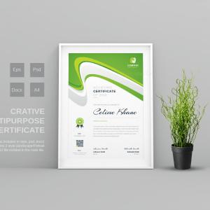 Poseidon Modern Professional Certificate Template
