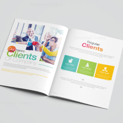 Rainbow Elegant Corporate Brochure Template