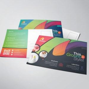 Rainbow Professional Stylish Postcard Template