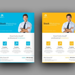 Stock Modern Stylish Business Flyer Template