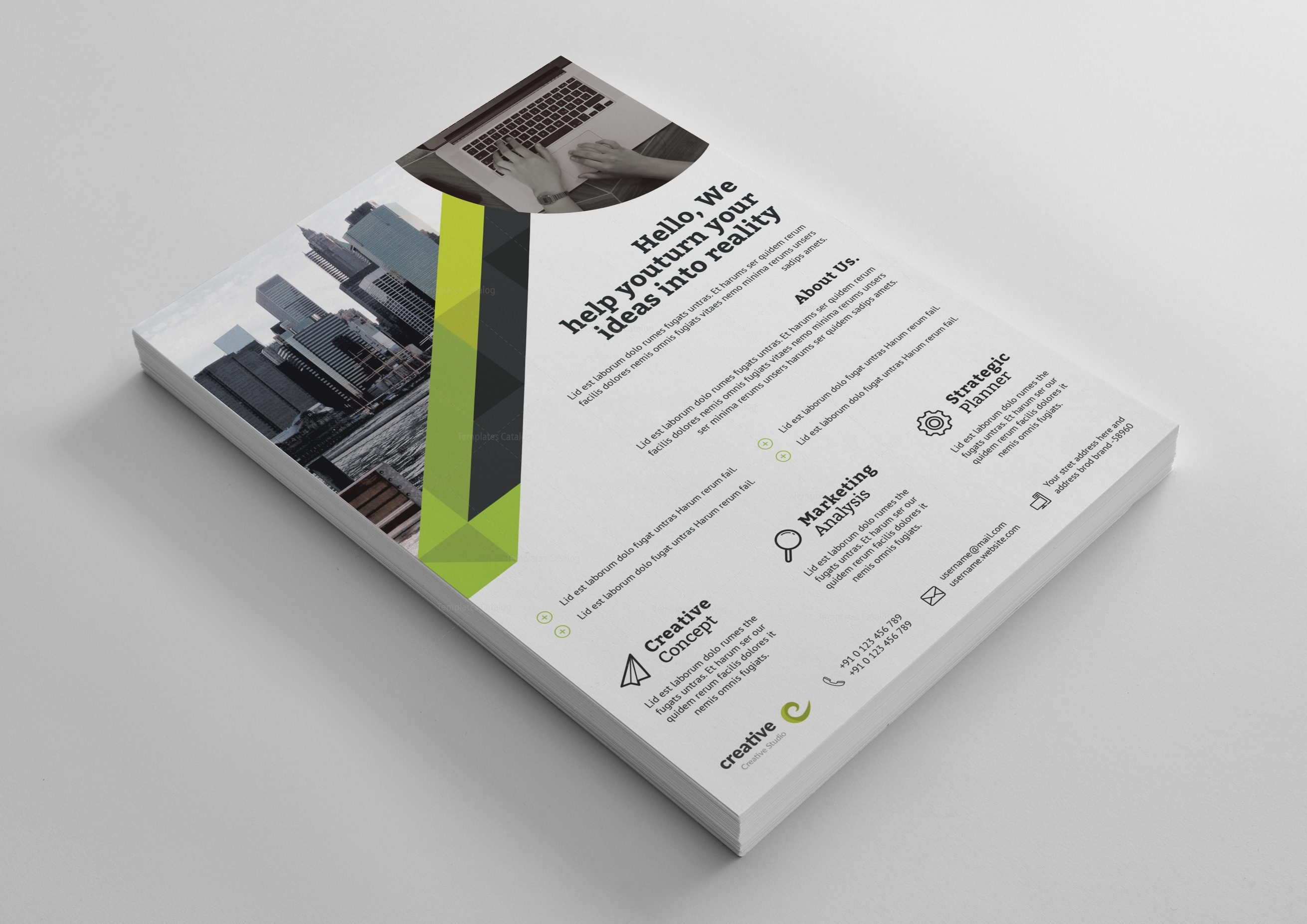 berlin elegant professional business flyer template 001367