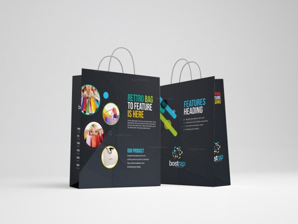Colorful Shopping Bag Template