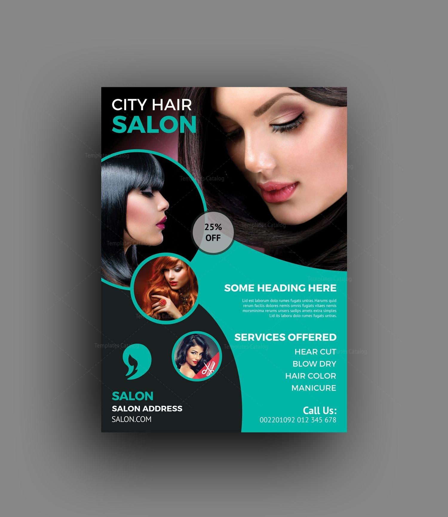 Elegant Hair Salon Flyer Template 15