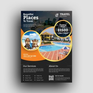 Premium Travel Agency Flyer Design Template