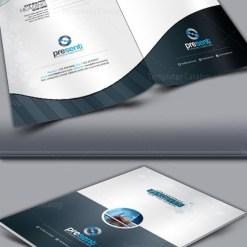 Preset Corporate Presentation Folder Template