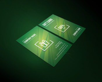 Stylish Corporate Gift Card Template
