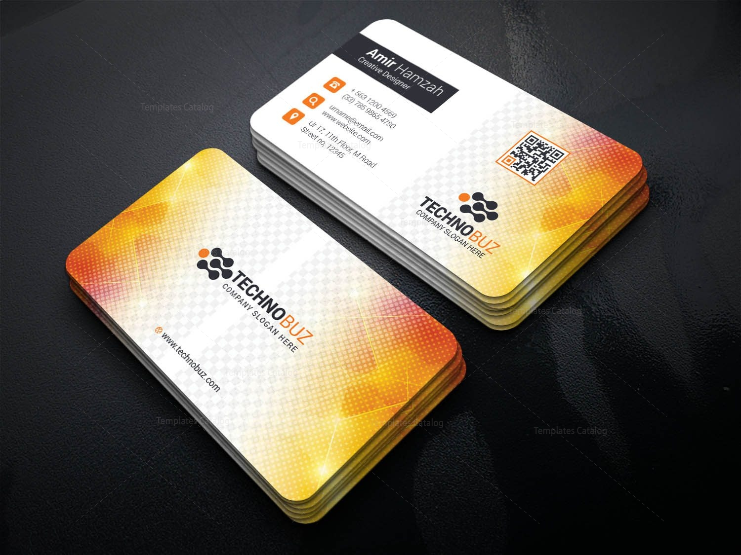 Vivid Professional Corporate Visiting Card Template