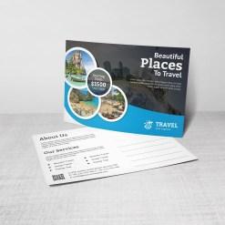 Artemis Travel Postcard Design Template