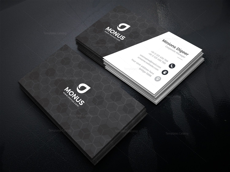 black cubes modern business card design template 001592