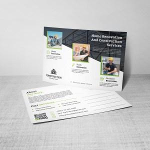 Creative Construction Postcard Design Template