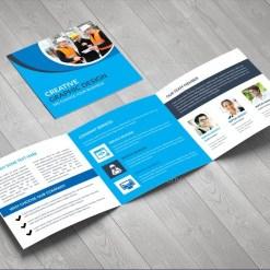 Elegant Corporate Square Tri-Fold Brochure Design Template