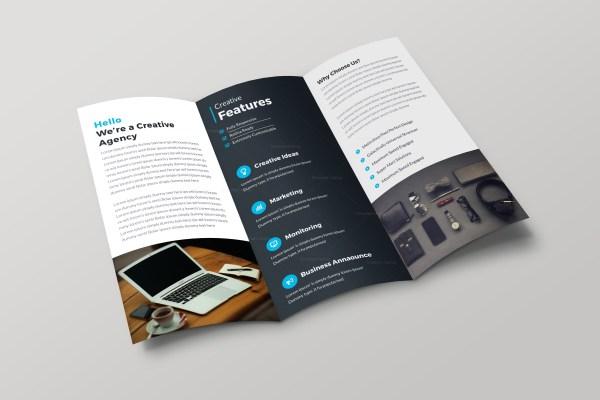 Helsinki Professional Tri-fold Brochure Design Template
