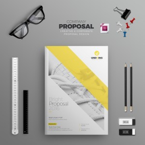 INDD Elegant Business Bi-Fold Brochure Design Template
