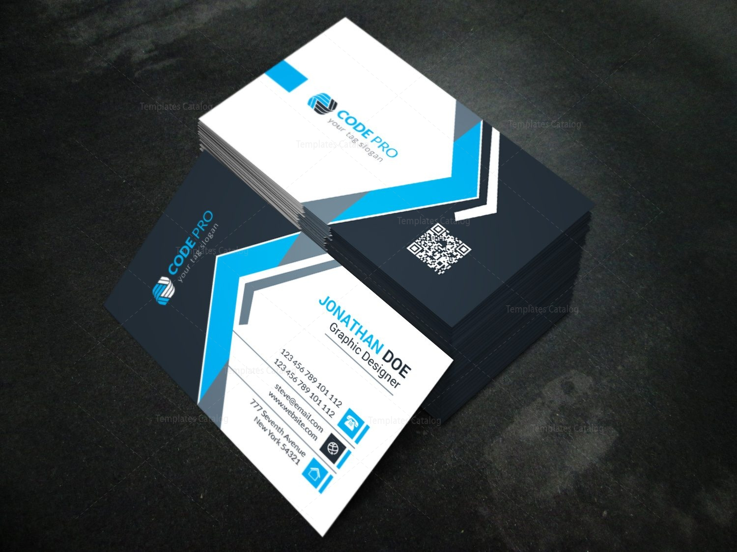 Modern Business Card Design Template In Eps Format 001623