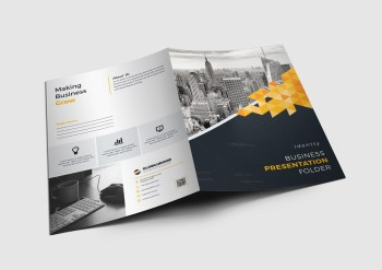 Montreal Corporate Presentation Folder Design Template