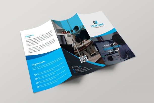 Nevada Creative Tri-fold Brochure Design Template
