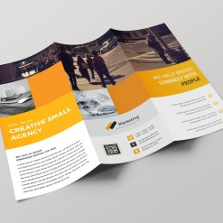 Riga Professional Tri-fold Brochure Design Template