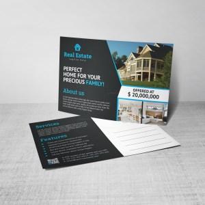 Venus Creative Real Estate Postcard Design Template