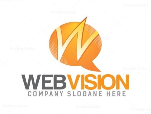 Web Vision Logo Design Template