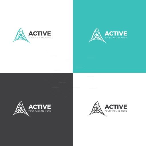 Active Corporate Logo Design Template