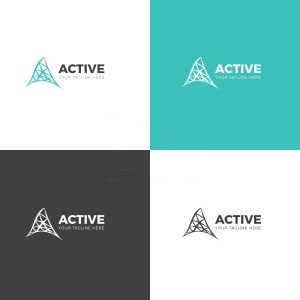 Active Corporate Logo Design Template