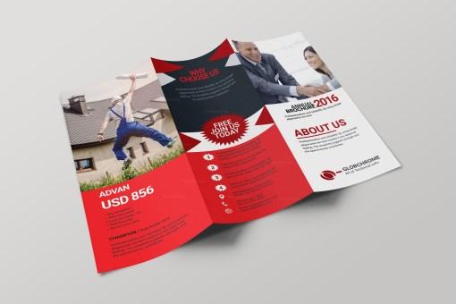 Cincinnati Corporate Creative Tri-fold Brochure