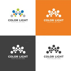 Color Light Creative Logo Design Template