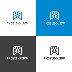 Construction Company Creative Logo Design Template