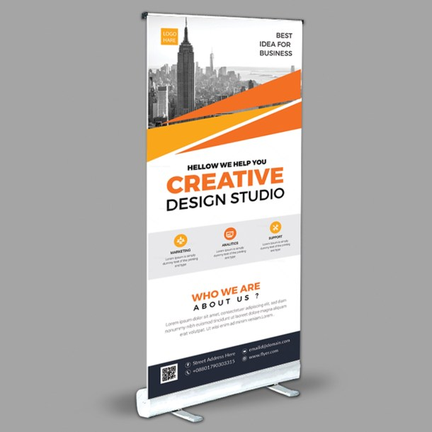 Creative Roll-Up Banner Design Template