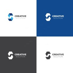 Creative Solution Logo Design Template