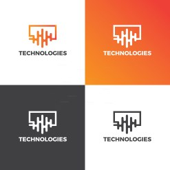 Electronic Creative Logo Design Template