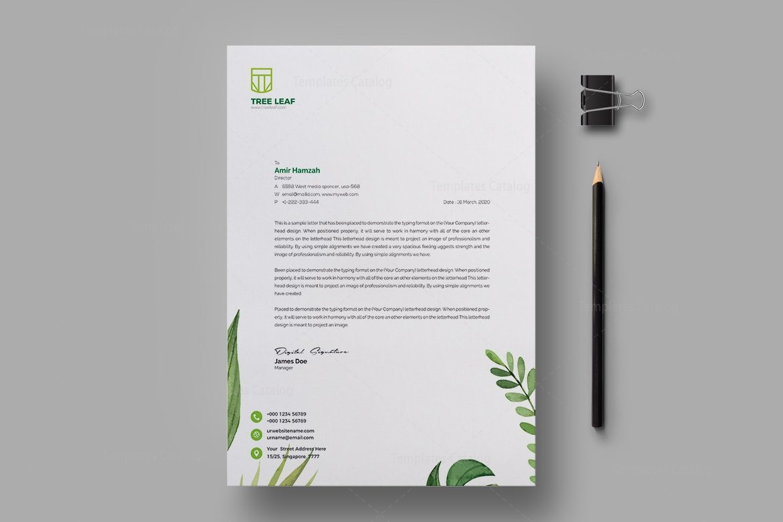 Leaf Professional Corporate Letterhead Template