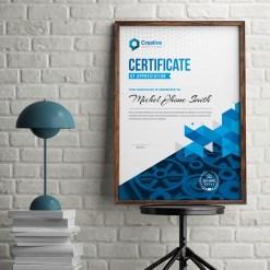 Professional Portrait Certificate Design Template