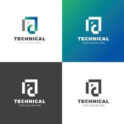 Technical Creative Logo Design Template