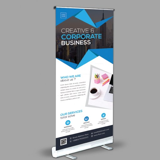 Versatile Roll-Up Banner Design Template