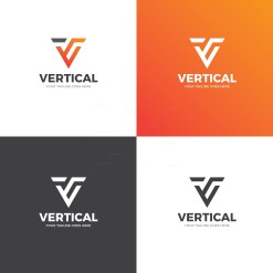 Vertical Creative Logo Design Template