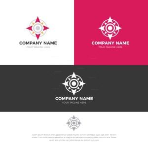 Compass Stylish Logo Design Template