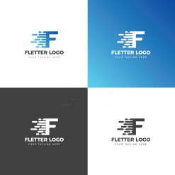 F Creative Logo Design Template