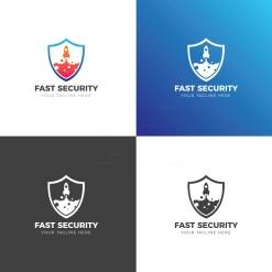 Fast Security Creative Logo Design Template