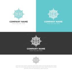 Globe Stylish Logo Design Template