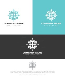 Globe Stylish Logo Design Template