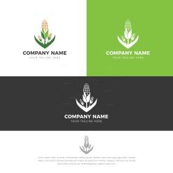 Green Corn Stylish Logo Design Template