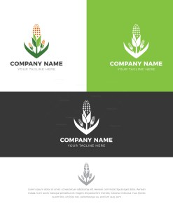 Green Corn Stylish Logo Design Template