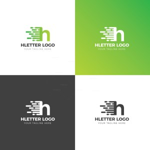H Lower Case Creative Logo Design Template