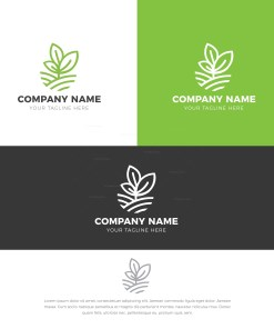 Herb Stylish Logo Design Template