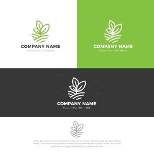 Herb Stylish Logo Design Template